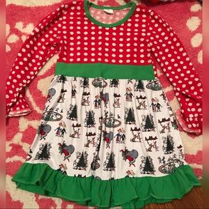 NWOT Grinch Stole Christmas character dress 6/7